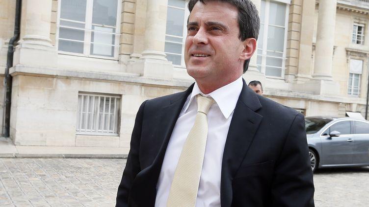 Le ministre de l'Intérieur,Manuel Valls, le 19 juin 2012. (KENZO TRIBOUILLARD / AFP)