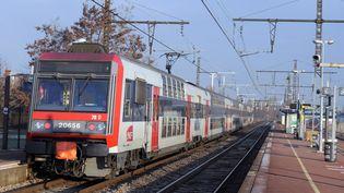 Un train Transilien, le 15 décembre 2010 en région parisienne. (MIGUEL MEDINA / AFP)