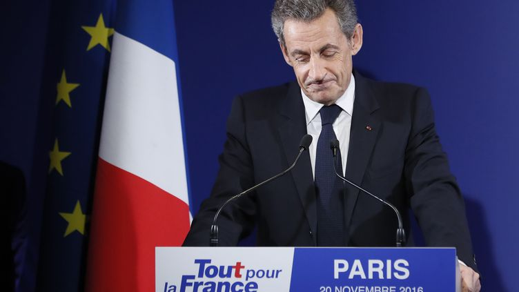 Nicolas Sarkozy reconnaît sa défaite à la primaire à droite, le 20 novembre 2016, à Paris. (REUTERS)