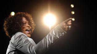 La chanteuse Whitney Houston donne un concert à Oberhausen (Allemagne), le 26 mai 2010. (STEFFI LOOS / AFP PHOTO)