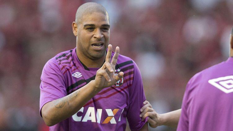 Adriano sera bel et bien au Havre vendredi, mais pas pour y signer un contrat...  (FELIPE GABRIEL / AG?NCIA LANCEPRESS!)
