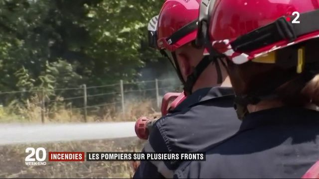 Incendies dans le Gard : les pompiers sur plusieurs fronts