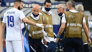 Karim Benzema devrait être titulaire face à l'Allemagne. (FRANCK FIFE / AFP)