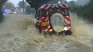 Le secteur de Sainte-Maxime (Var) a été particulièrement touché par les inondations, jeudi 27 novembre 2014. ( FRANCE 2 / FRANCETV INFO)