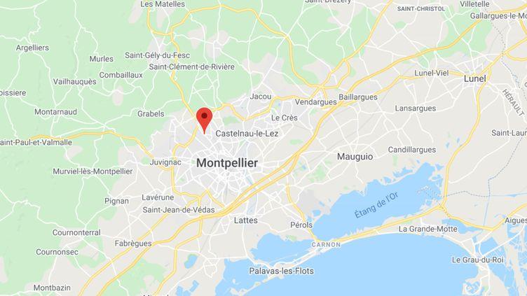 Le pont Lapeyronie à Montpellier (Hérault). (CAPTURE ECRAN GOOGLE MAPS)