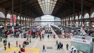 La Gare du Nord à Paris, mercredi 4 avril 2018 lors du deuxième jour de la grève perlée des cheminots. (MAXPPP)
