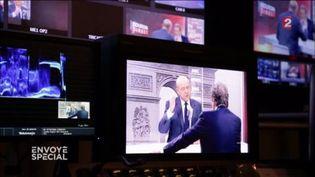 Encoulisses de FTV avant l'itw de Juppé le 21 novembre 2016. (FRANCE 2 / FRANCETV INFO)