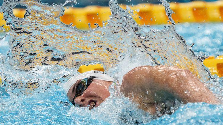 Claire Supiot est devenue la première athlète française à participer aux JO et aux Paralympiques, le 25 août 2021 à Tokyo. (YASUYOSHI CHIBA / AFP)