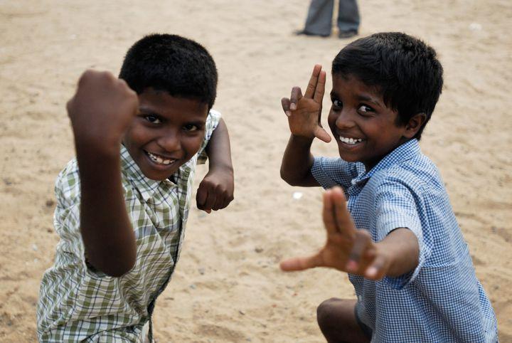 Les écoliers (© Naiade Plante)