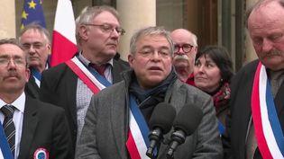 Des maires de communes rurales à l'Élysée le 14 janvier 2019 (Capture d'écran France 2)