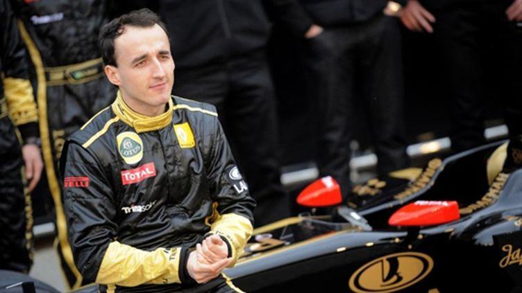 Robert Kubica lors de la présentation de la Lotus-Renault 2011, fin janvier