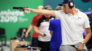 Le Français Jean Quiquampoix,vice-champion olympique à Rio en 2016, tentera de se qualifier pour la finale du tir au pistolet à 25 mètrres. (PHILIPPE MILLEREAU / KMSP)