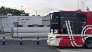 Inauguration de la station à hydrogène AuxHyGen à Auxerre, le octobre . (THIERRY BOULANT / FRANCE-BLEU AUXERRE)