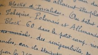 Pendant deux ans, Jean Hoen a écrit le quotidien de Buchenwald.  (France Télévisions)