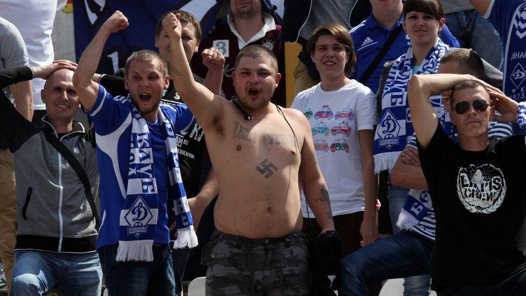 Des supporteurs du Dynamo Moscou...