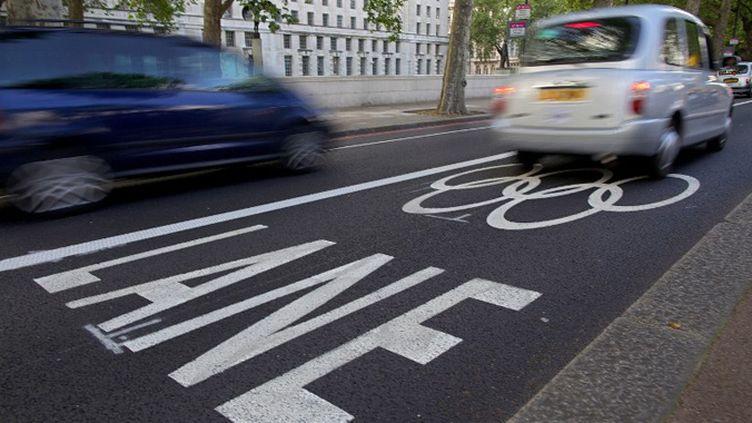 La voie réservée à la famille olympique dans les rues de Londres