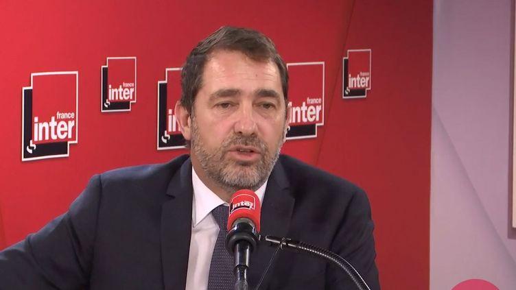 Le ministre de l'Intérieur, invité sur France Inter, le 19 février 2020. (FRANCEINTER / RADIOFRANCE)