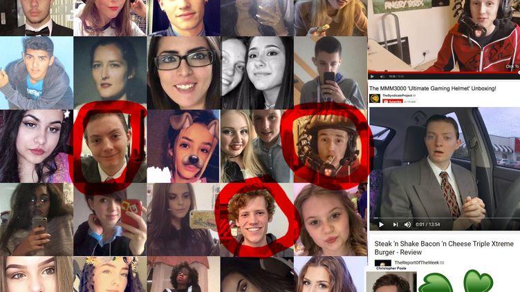 Un montage photo incluant de faux disparus, partagé sur twitter ce 23 mai 2017. (TWITTER)
