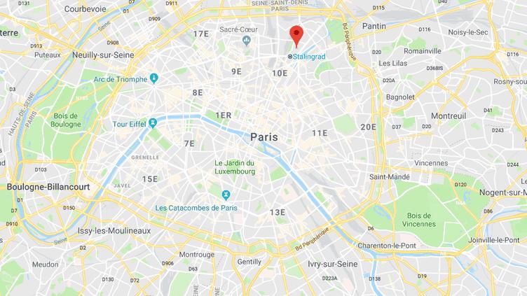 Le 19e arrondissement de Paris, où s'est déroulée l'agression homophobe, samedi 6 octobre. (GOOGLE MAPS)