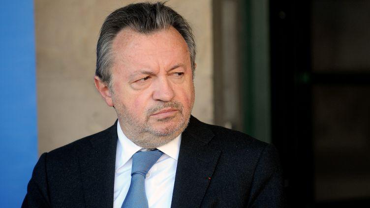 Le sénateur PS et président du conseil général des Bouches-du-Rhône, Jean-Noël Guérini, le 13 mars 2013 à Marseille. (MAXPPP)