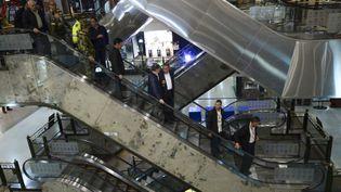 L'attentat a eu lieu dans un centre commercial de Bogota (Colombie), le 17 juin 2017. (RAUL ARBOLEDA / AFP)