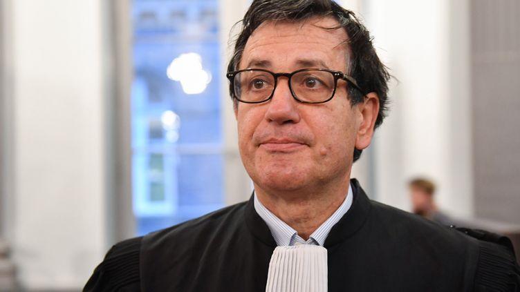 L'avocat Didier Seban, au procès de Willy Bardon, le 21 novembre 2019 au tribunal d'Amiens. (DENIS CHARLET / AFP)