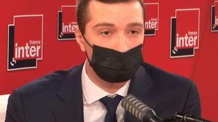 Jordan Bardella, le 17 mai 2021, sur France Inter. (FRANCE INTER)