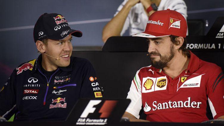 Les deux pilotes de F1, Sebastian Vettel et Fernando Alonso