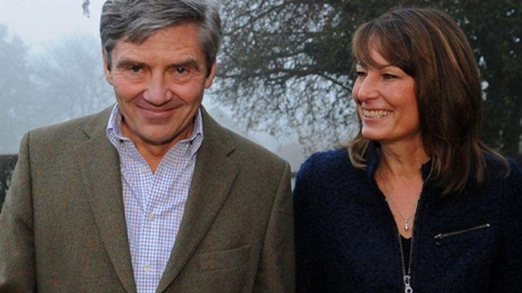 Michael et Carole Middleton, les parents de Kate (AFP PHOTO / STEFAN ROUSSEAU/FILES)