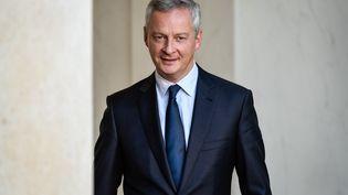 Bruno Le Maire, ministre de l'Economie et des Finances, le 14 septembre 2017 sur le perron de l'Elysée, à Paris. (JULIEN MATTIA / NURPHOTO / AFP)