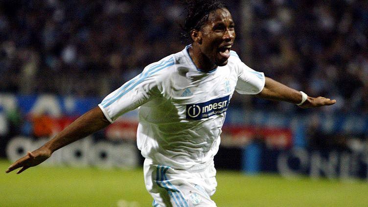 Didier Drogba sous le maillot de l'OM (GERARD JULIEN / AFP)