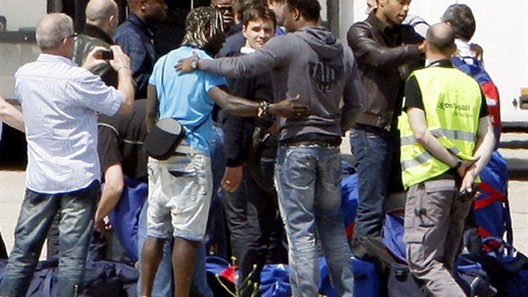Les Bleus au Bourget à leur descente d'avion de retour du Mondial (PHOTO /THOMAS SAMSON)