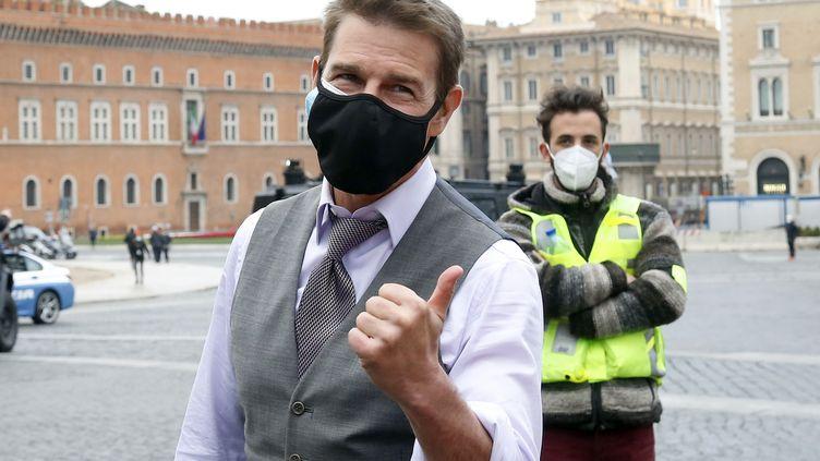 "Tom Cruise sur le tournage de ""Mission Impossible 7"" à Rome. (MONDADORI PORTFOLIO / MONDADORI PORTFOLIO EDITORIAL)"