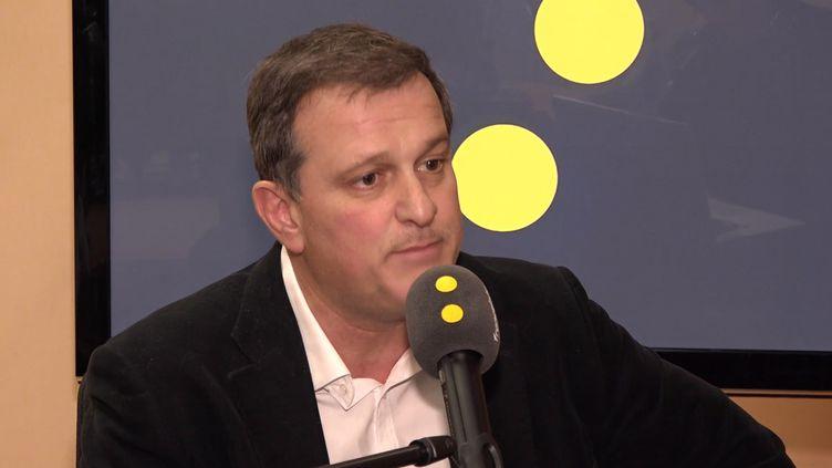 Louis Aliot, député du Rassemblement national, sur franceinfo vendredi 7 février 2020. (FRANCEINFO / RADIOFRANCE)