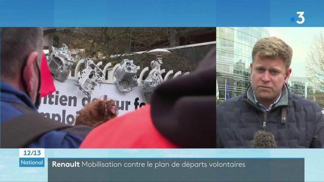 Renault : les salariés manifestent contre de nouvelles suppressions d'emplois