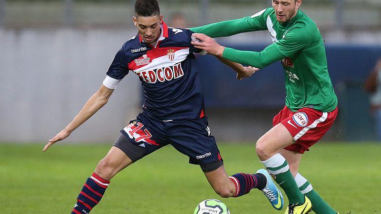 Lors d'un match de football entre Sedan et Monaco, le 29 avril 2013, à Sedan (Ardennes). (FRANCOIS NASCIMBENI / AFP)