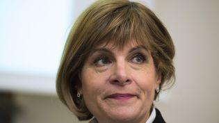 La femme d'affaires Anne Lauvergeon, aujourd'hui présidente du conseil d'administration de Sigfox, le 11 février 2015 à Paris. (MARTIN BUREAU / AFP)