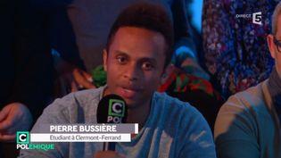 Pierre Bussière a attaqué frontalement le vice-président du Front national, dimanche 30 avril, sur France 5. (C POLITIQUE / FRANCE 5)