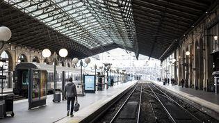Un quai vide à la gare du Nord, à Paris, lundi 2 avril 2018. (MAXPPP)