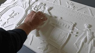 L'impression numérique en 3D de la tapisserie de Bayeux a été financée par l'association Valentin Haüy et ses donateurs   (France 3 / Culturebox )