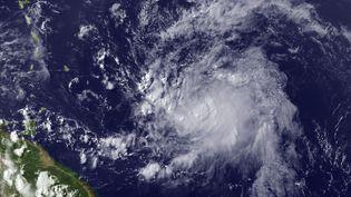 Une photo satellite de la tempête cyclonique Chantal, le 8 juillet, prise par laNational Oceanic and Atmospheric Administration. (HO / NOAA / AFP)