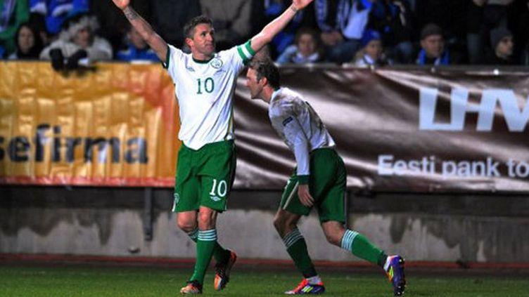 La joie de l'Irlandais Robbie Keane