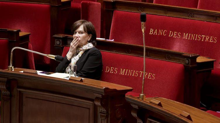 La secrétaire d'Etat à la Famille, Laurence Rossignol, le 19 mai 2014 à l'Assemblée nationale. (MAXPPP)