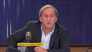 Michel Platini était l'invité de franceinfo le 6 novembre (FRANCEINFO / RADIO FRANCE)