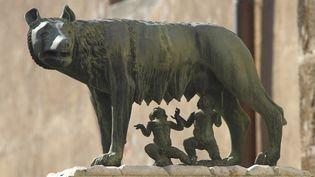 Romulus et Remus, futurs fondateurs de Rome, s'alimentent enfants à la louve qui les a recueillis  (Philippe Turpin / Photononstop)