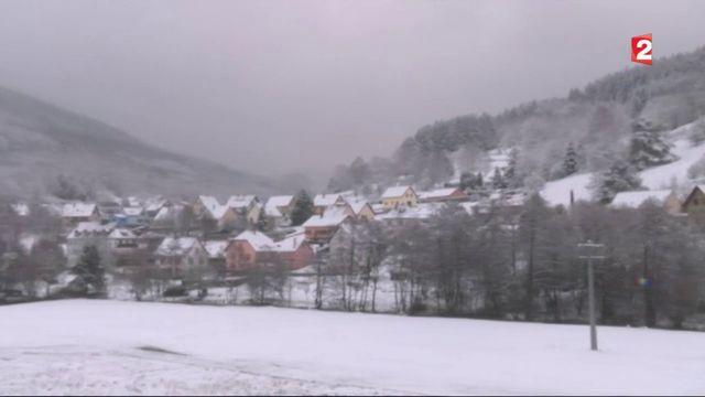 La neige était attendue dans l'Est de la France