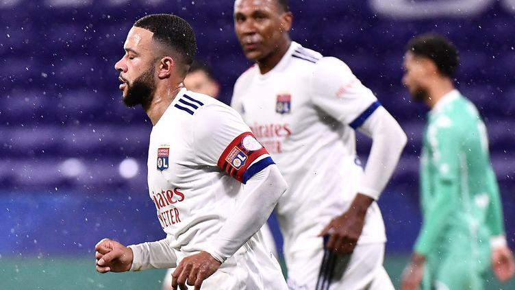 Memphis Depay a marqué son 15e but de la saison (JEFF PACHOUD / AFP)