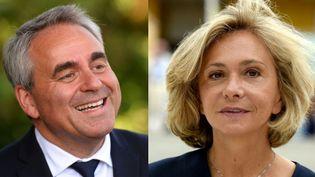 Xavier Bertrand et Valérie Pécresse. (JEAN-FRANCOIS MONIER / ERIC PIERMONT / AFP)