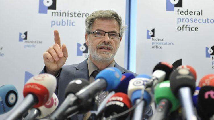 (Eric Van Der Sypt, porte-parole du parquet fédéral de Belgique. © Maxppp)