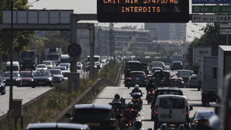 Le périphérique parisien est soumis à des restrictions de circulation, le 31 juillet 2020. (ALAIN JOCARD / AFP)